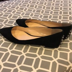 Vince Camuto Suede Studded Flats 8.5 ❤️